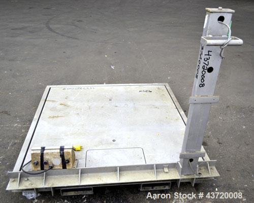 "Used- Mettler Toledo Vertex Platform Scale, 10,000 Pound Capacity, 304 Stainless Steel. 48"" x 48"" Platform.  Includes a Fair..."