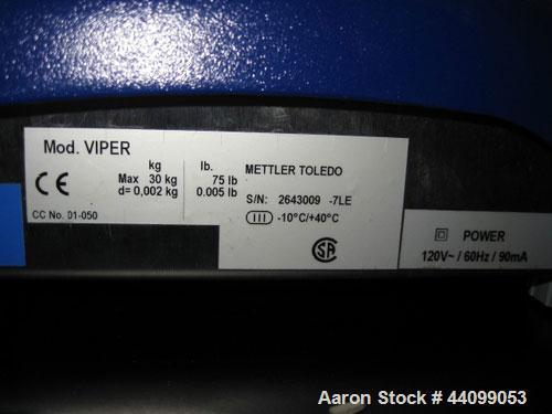 Used- Mettler Toledo Scale, Model VIiper. 75 Pound maximum. Serial# 2643009.