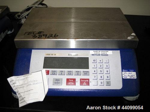 Used- Mettler Toledo Scale, Model VIiper. 75 Pound maximum. Serial# 2643008.