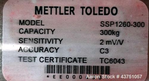 "Used- Mettler Toledo Xpress Floor Scale. 300 KG (661 Pound) capacity. 20"" x 27"" Stainless steel platform. Includes a XIF dis..."