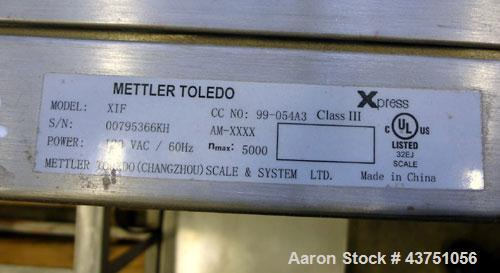 """Used- Mettler Toledo XIF Digital Scale. 5000 Pound capacity. 20"""" x 16"""" Stainless steel platform, display panel. NOT AVAILABL..."""