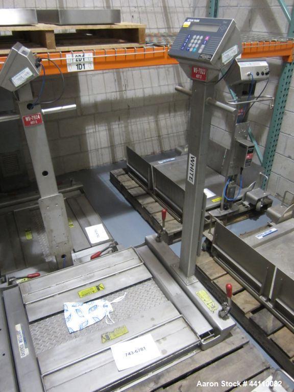 Used- Mettler Toledo Scale 500 kg Max (0.1 kg division) Portable Toledo Puma Floor Scale