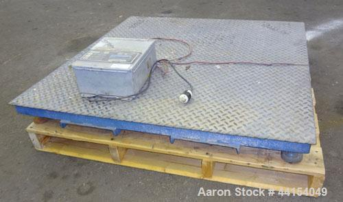 "Used- Indiana Platform Scale, Model 44-5, serial# 9755. Approximate 5000 pound capacity, 48"" X 48"" platform. Includes a FWC ..."