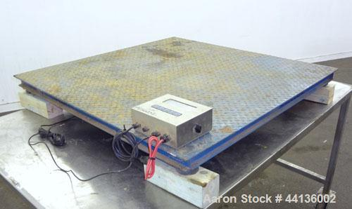 "Used- Inscale Floor Scale, Model FS-44-5K.  48"" x 48"" Carbon steel plate, 5,000 pound capacity.  Includes a GSE model 350 re..."