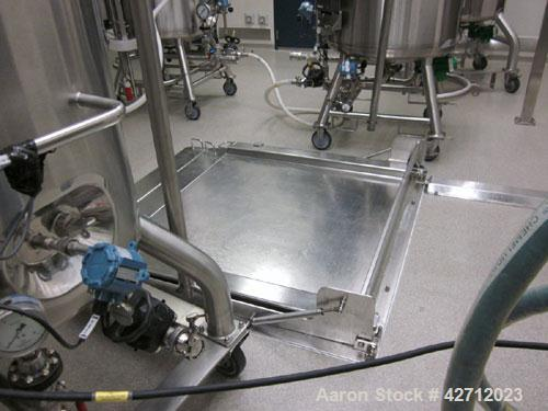 "Used- Approximately 48"" x 48"" Stainless Steel Floor Scale. PRICE INCLUDES A 15% BUYERS PREMIUM. AS IS WHERE IS, LOADING & RE..."
