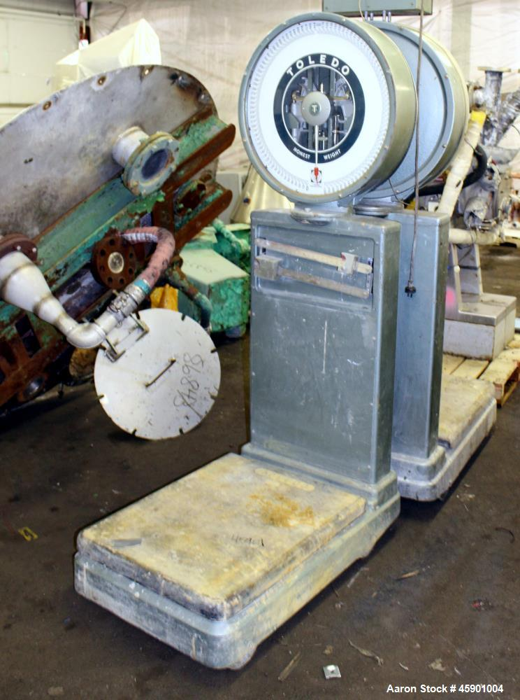 "Used-  Toledo Platform Scale,Model 2181. 1600 Pound capacity, 24"" x 30"" Platform. Serial# 528921, Factory# 2181-053."