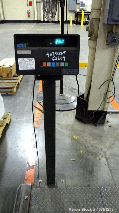 "Used- Mettler Toledo Floor Scale, Model 8140. 10,000 Pound capacity. 84"" X 60"" Carbon steel platform. Remote digital display..."