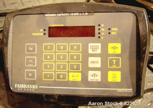 USED: Toledo/Masstron platform scale. Measures to 10,000 pounds by1 pound increments. Fairbanks digital scale readout can di...