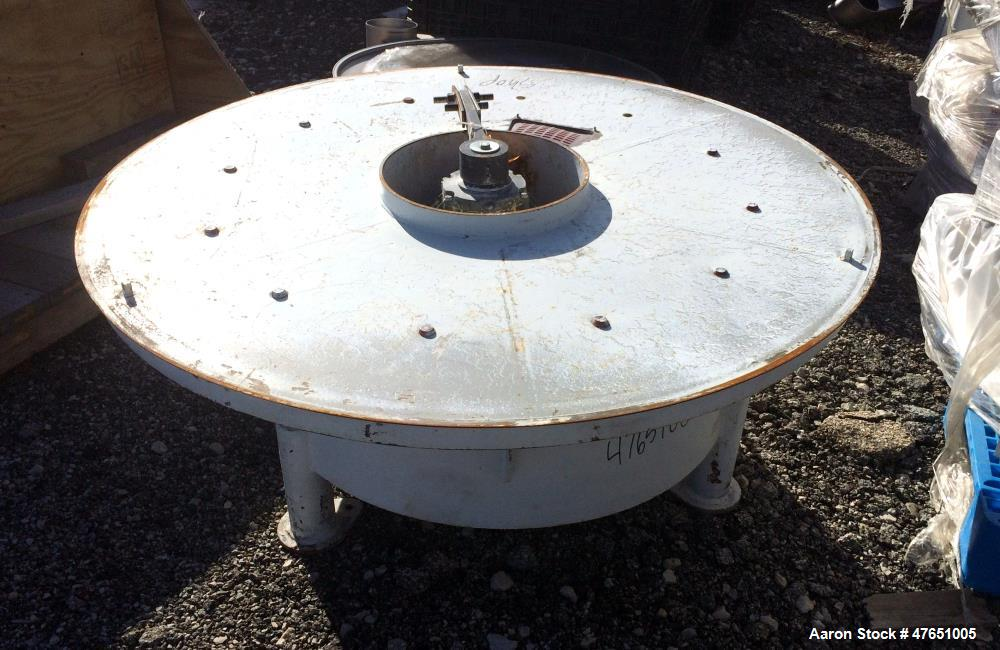 """Used- Sweco 60"""" Screener Parts, Model SS60S. Consisting Of: (1) Carbon steel lower table, base weldment, 2.5hp, 3/60/230/460..."""