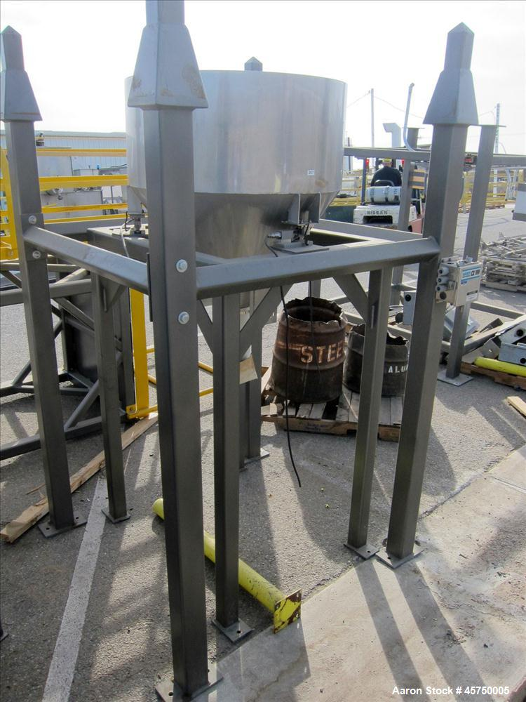 "Used-32"" diameter X 16"" straight side, stainless steel sifter. (OAD: 52""L X 52""W X 84""H)."