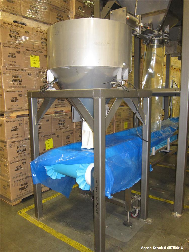 """Used-32"""" diameter X 16"""" straight side, stainless steel sifter. (OAD: 52""""L X 52""""W X 84""""H)."""