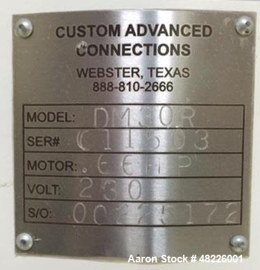 "Unused Custom Advanced Connections 30"" Sweco Style Screener. 2 Deck, 230/460, 1/2 HP. Includes: (9) new screens with sliders..."