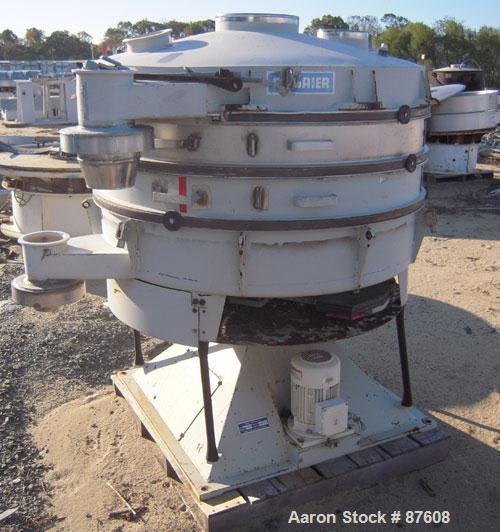 "Used- Allgaier Tumbler Screening Machine, model TSM-1200/3, stainless steel. 48"" (1250mm) diameter double deck, 3 separation..."