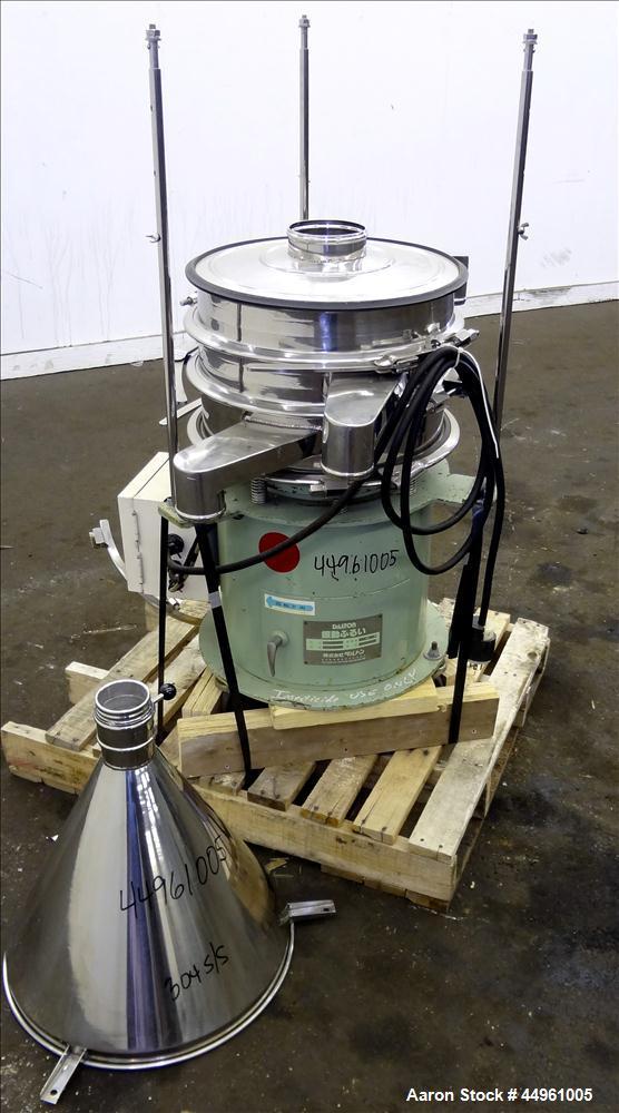 "Used- Dalton Company Vibrating Screener, Model 402, 304 Stainless Steel. Apprixmate 14"" diameter, double deck, 3 separation ..."