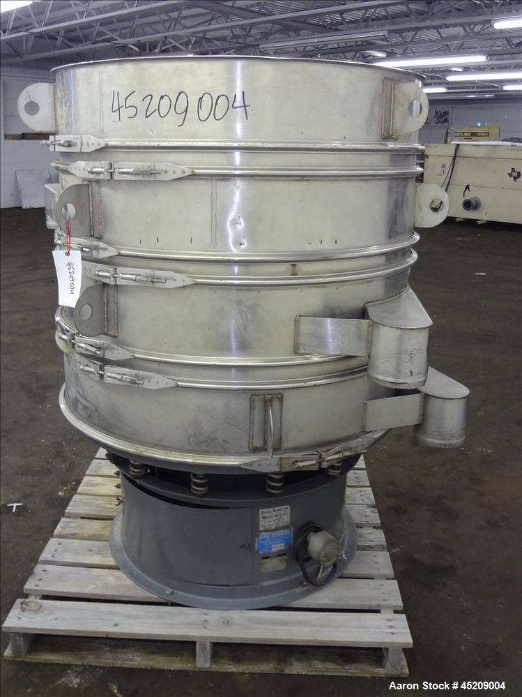 "Used- Stainless Steel Rebuilt Dewco Screener, 48"" Diameter"