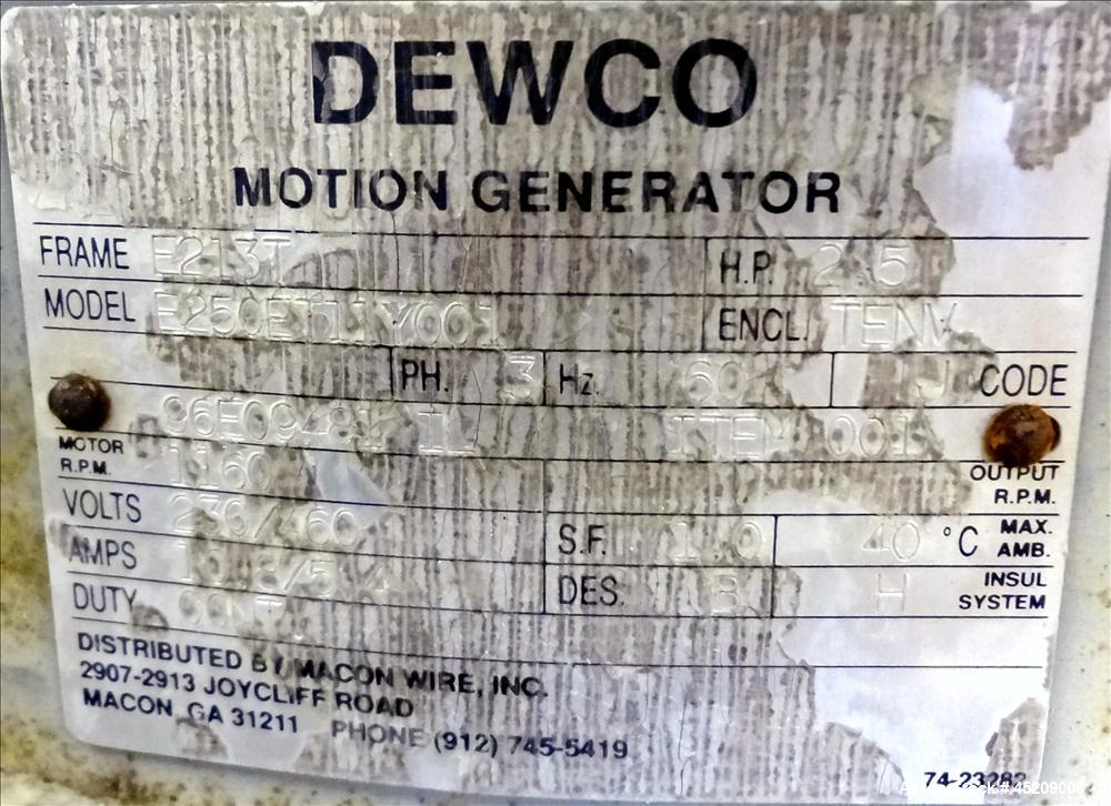 Used- Stainless Steel Dewco Screener