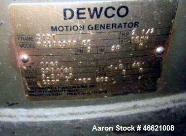 "Used- Dewco 60"" Diameter Single Deck Screener, Stainless Steel. Mounted on a base."