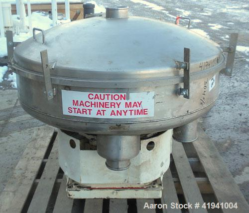 "Used- Gump Pneumatic In-Line Screener, model CP-32, 304 stainless steel. 36"" diameter, 13 psig operating pressure. (2) scree..."