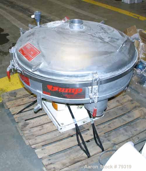 Used- Stainless Steel Gump Pneumatic Inline Screener, Model CP-32