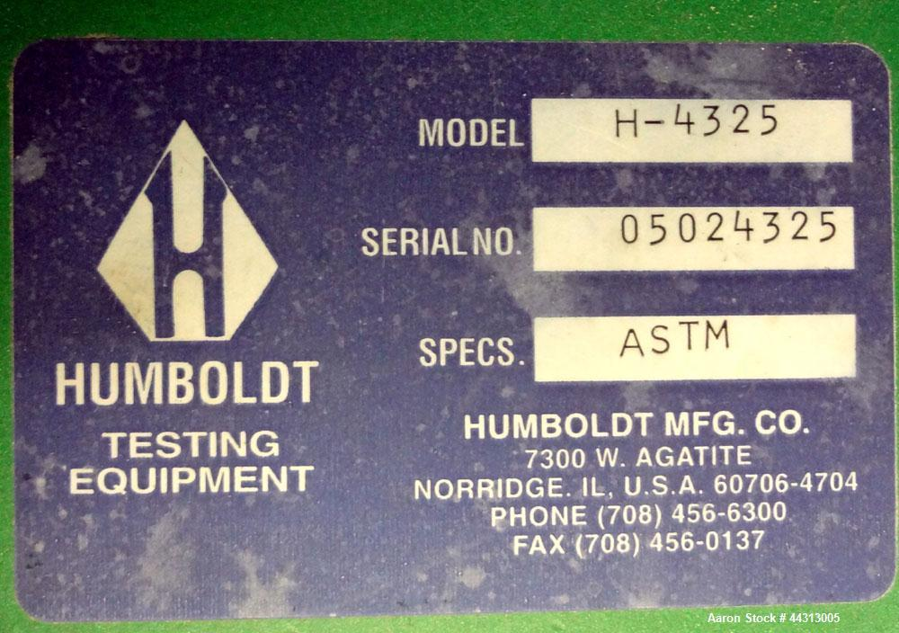 """Used- Humboldt Motorized Sieve Shaker, Model H-4325, Carbon Steel. No sieves included. Designed for use with 3"""", 5"""", and 8"""" ..."""