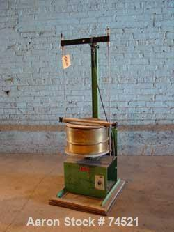 """USED: Humboldt sifter, brass, 12"""" diameter, single deck, 1 separation.Driven by a 1/4 hp, 115 volt motor. Includes cover."""