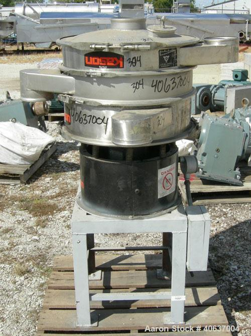 "Used-  KasonScreener, Model K24-1-SS,304 Stainless Steel. 24"" diameter,double deck,3 separation.  Stainless steel top c..."