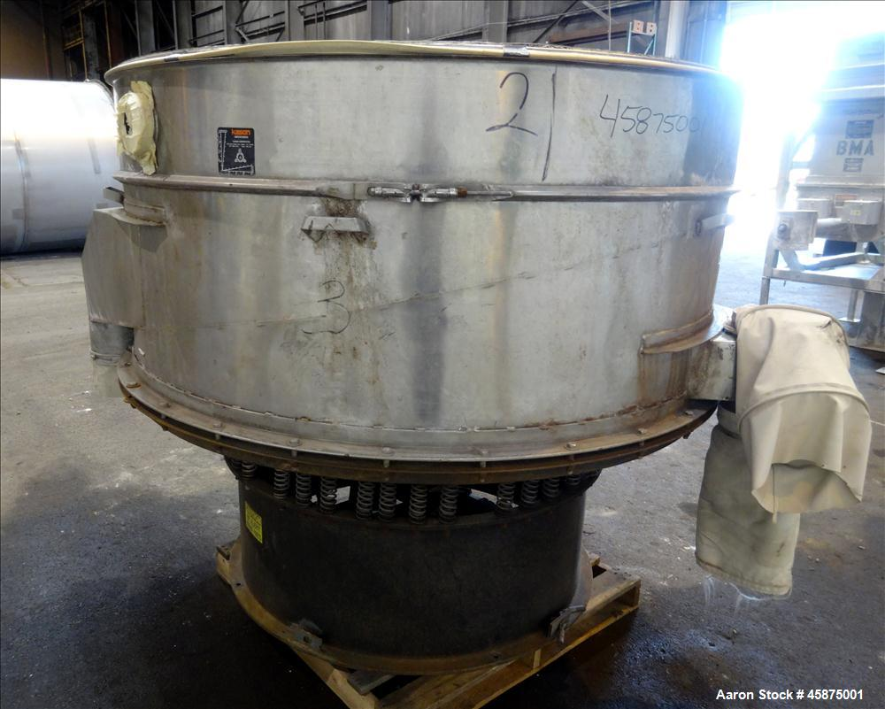 "Used- Kason Vibrating Screen Separator, Model 72-2AD-SS, 304 Stainless Steel. 72"" Diameter, single deck, 2 separation, no to..."
