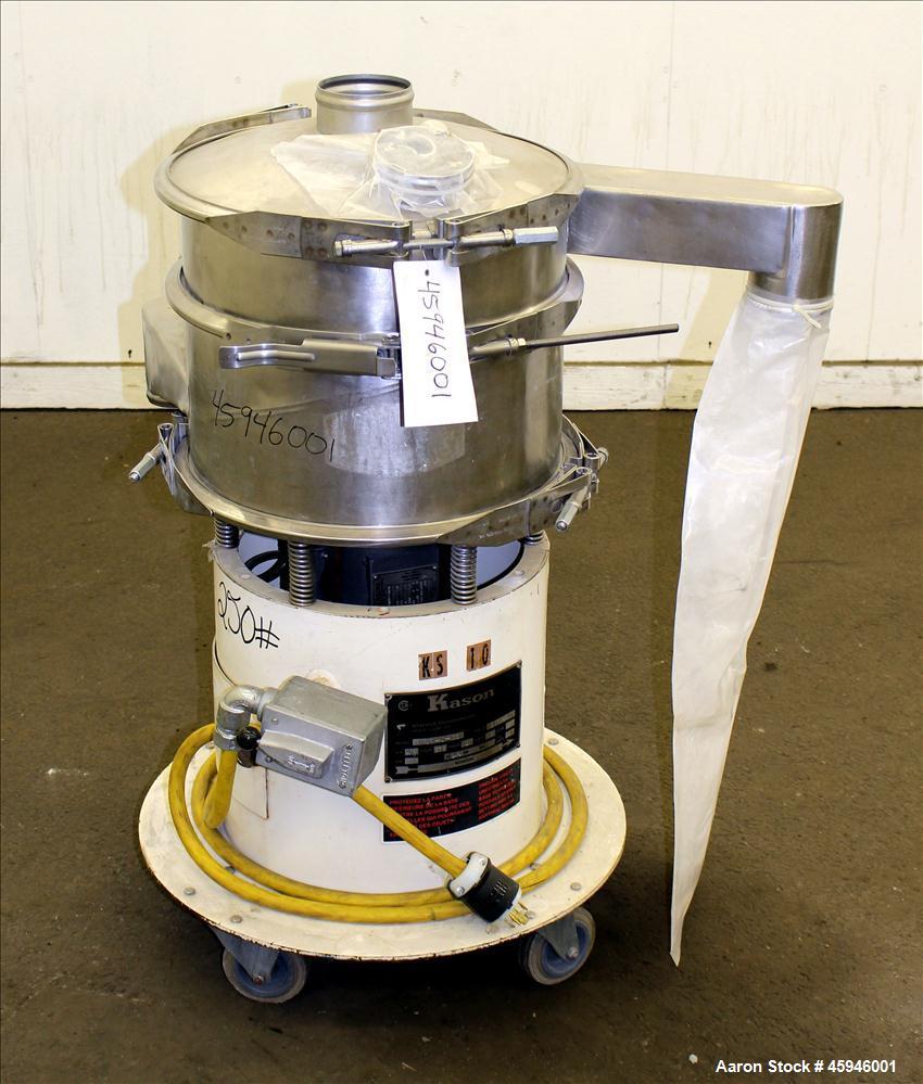 "Used- Kason Separator, Model K 18-1-SS, 304 Stainless steel. 18"" Diameter, single deck, 2 separation, no screens. Stainless ..."