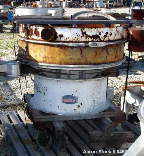 "Used- Kason Sifter, Model K48-1-SS, Carbon Steel. 48"" Diameter single deck, 2 separation, 1 hp motor, 230/460 volt, mounted ..."