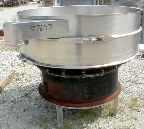 "Used- Kason Screener, Model K-60-1-SS, Stainless Steel. 60"" Diameter, single deck, 2 separation. No top cover or motor. Moun..."