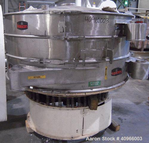 "Used- Kason Screener, Model K-72-2-SS, 304 stainless steel. 72"" diameter, double deck, 3 separation. Stainless steel top cov..."