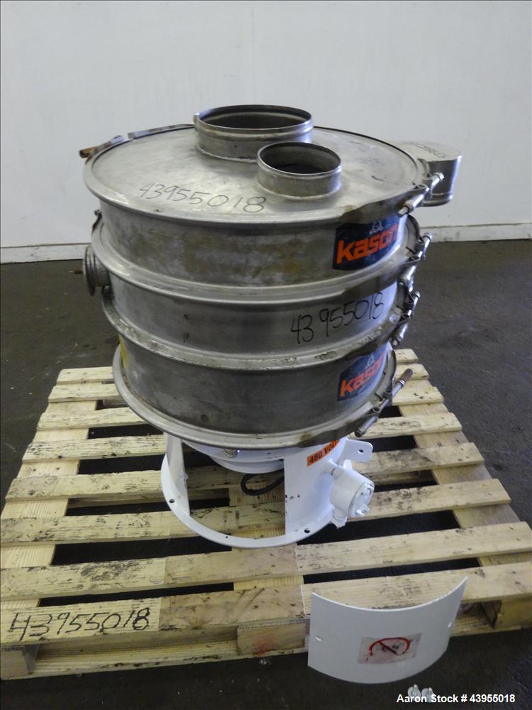 Used- Kason Screener, Model K24-2-SS, 304 Stainless Steel.
