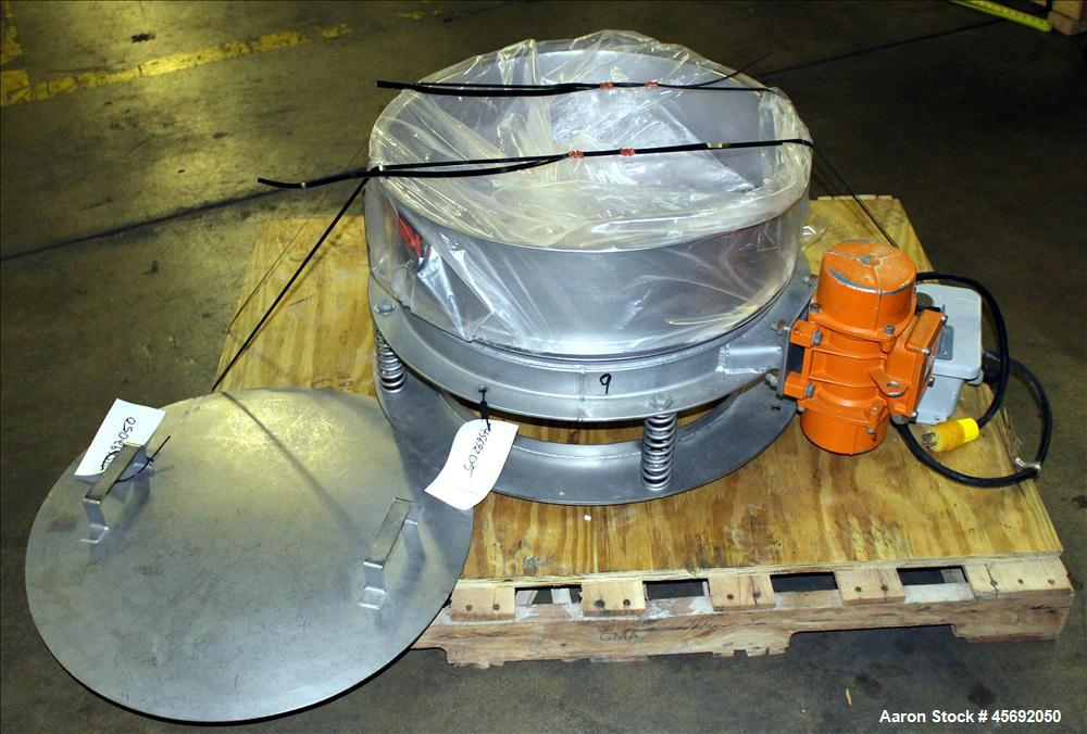 "Used- Kason Drum Sifter/Scalper, Model K24, Stainless Steel. 24"" diameter, single deck, 1 separation. Driven by .23 hp, 115 ..."