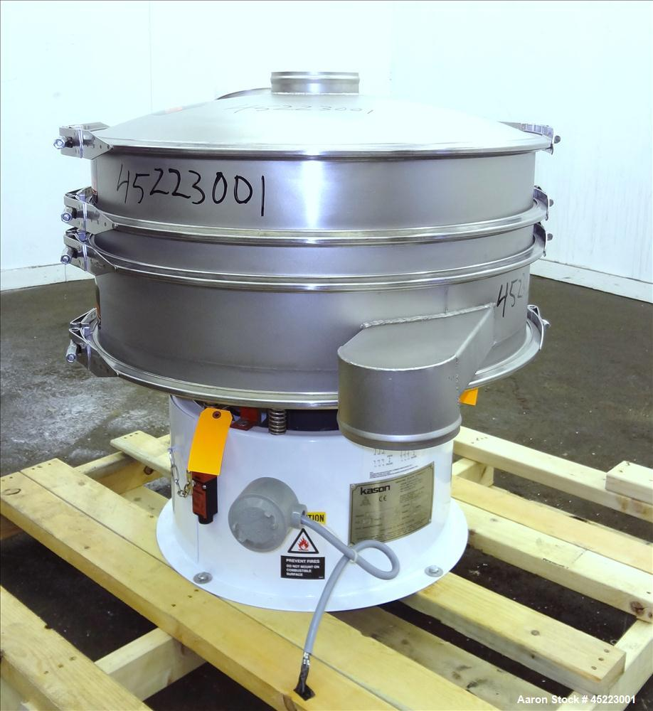 "Unused- Kason VibroScreen Separator / Sifter, Model K30-1-SS, 304 Stainless Steel. 30"" Diameter, single deck, 2 separation w..."