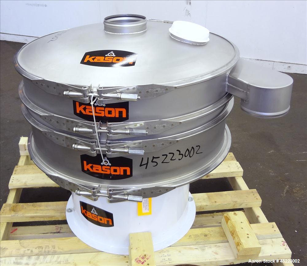 "Unused- Kason VibroScreen Separator / Sifter, Model K30-1-SS, 304 Stainless Steel. 30"" Diameter, single deck, 2 separation w..."