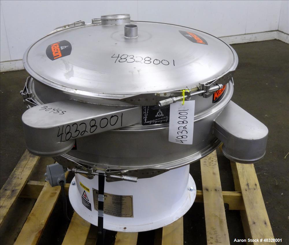 Used- Kason Screener, Model K30-1-SS, 304 Stainless Steel.