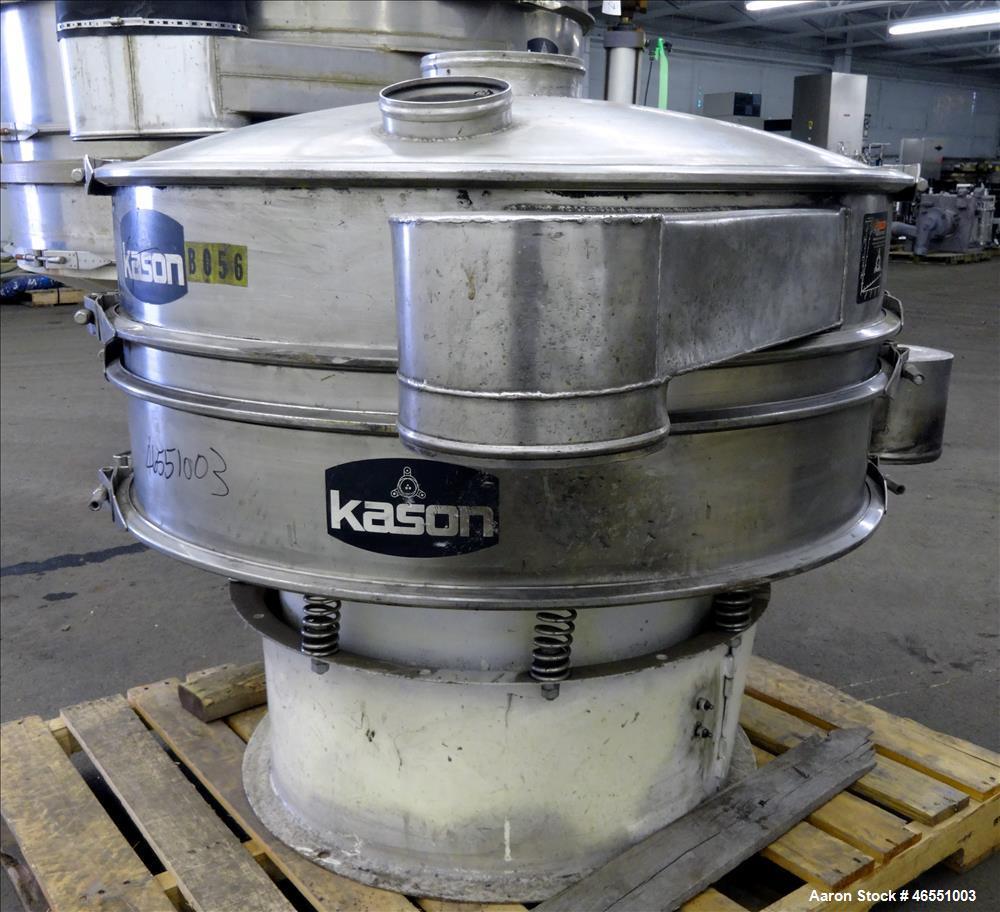 """Used- Kason Screener, Model K40-1-CS/SS, 304 Stainless Steel. 40"""" Diameter, single deck, 2 separation. Stainless steel top c..."""