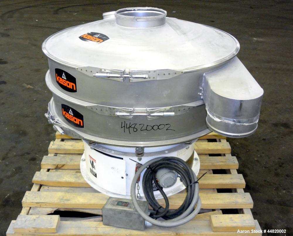 """Used- Kason Screener, Model K40-1-CS, 304 Stainless Steel. 40"""" Diameter, single deck, 2 separation. Stainless steel top cove..."""