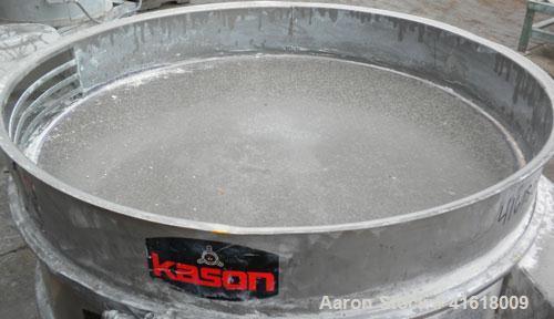 "Used- Kason Vibrating Screen Separator, Model K40-2-SS, 304 Stainless Steel. 40"" diameter, single deck, 2 separation, no top..."
