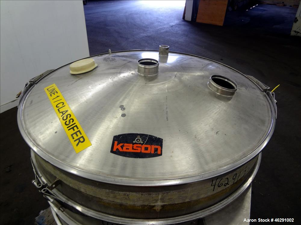 "Used- Kason 48"" Vibra Screen, Model K48-3-SS/SP"