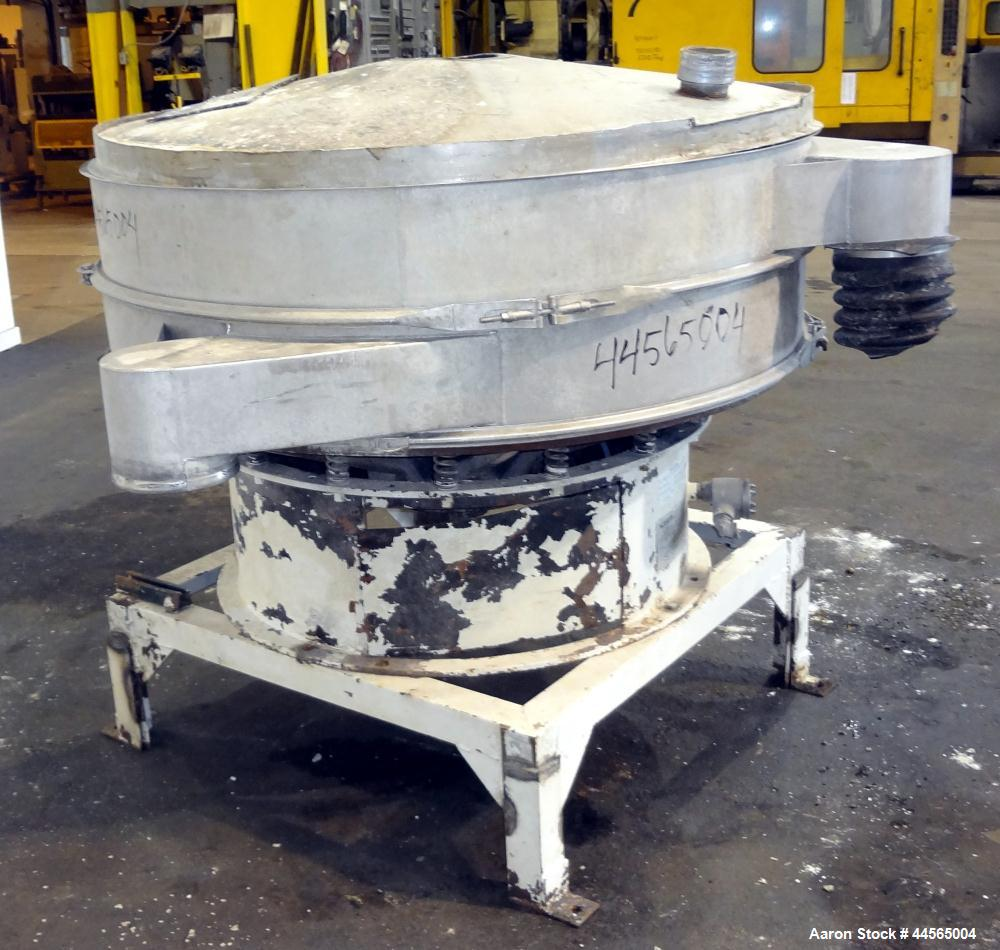 "Used- Kason Screener, Model K60-1-SS, 304 Stainless Steel. 60"" Diameter, single deck, 2 separation. Stainless steel top cove..."
