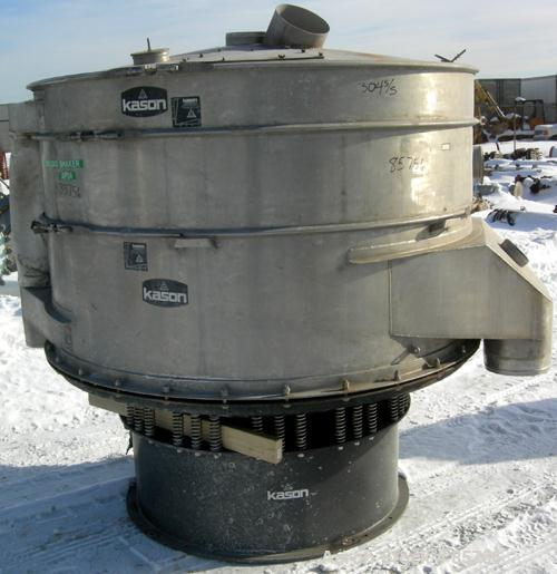 "USED: Kason high capacity recycle clarifier/screener, model K72-2AD-SS, 304 stainless steel. 72"" diameter, double deck, 3 se..."