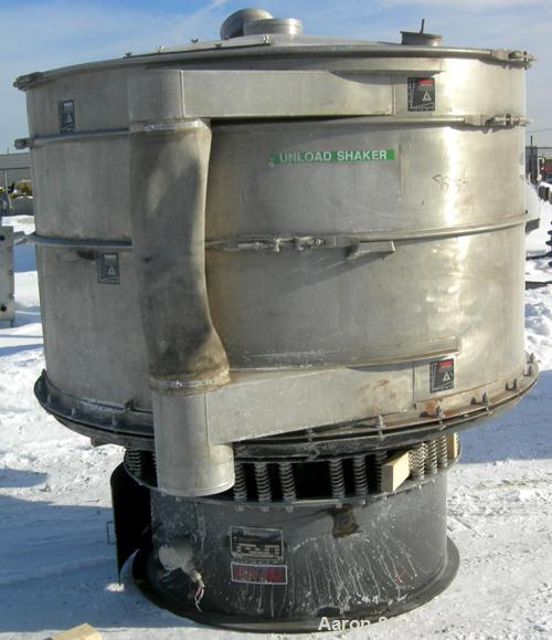"Used- Kason High Capacity Recycle Clarifier/Screener, Model K72-2AD-SS, 304 Stainless Steel. 72"" diameter, double deck, 3 se..."