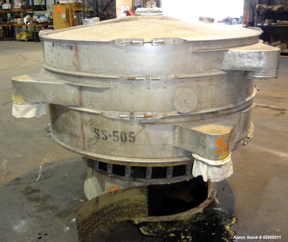"Used- Kason Screener, Model KX-2-SS, 316 Stainless Steel. 72"" Diameter, double deck, 3 separation. 316 Stainless steel top c..."