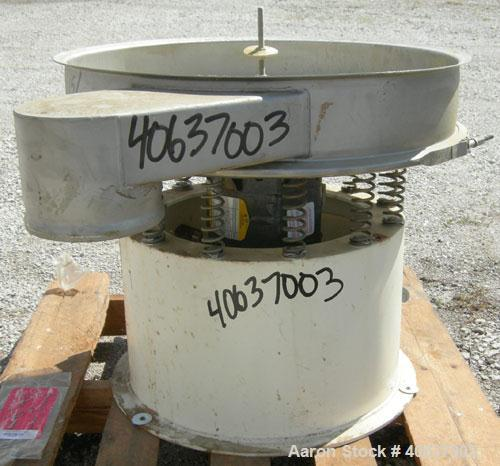 "Used-  Sweco Screener, Model LS24S444-3, 304 Stainless Steel.  24"" diameter, bottom deck only. Driven by a 1/3 HP, 3/60/440 ..."