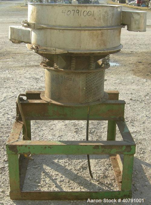 """Used- Sweco Screener, Model LS30S66, 316 stainless steel.  30"""" diameter, single deck, 2 separation, no top cover.  Driven by..."""