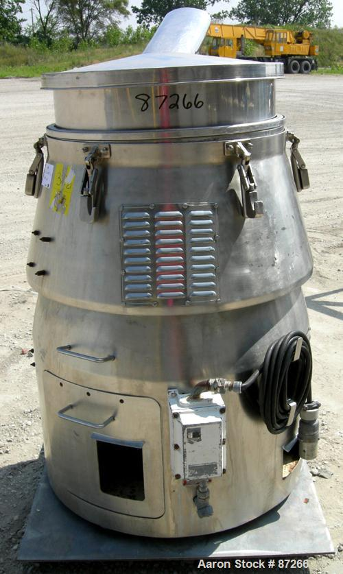 """USED: MM Industries Vorti-Siv vibrating sieving and straining machine, model RBF-3, 316 stainless steel. (1) 30"""" diameter me..."""