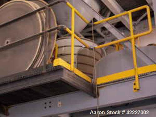 """Used-Macon 60"""" Circular Screener, stainless steel, 3 deck with cover."""