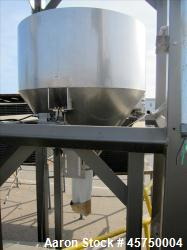 "32"" diameter X 16"" straight side, stainless steel sifter. (OAD: 52""L X 52""W X 84""H)."