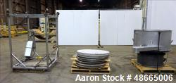 "Used- Circular Sieve, Approximate 48"" diameter, 304 Stainless Steel."